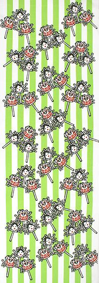 手ぬぐい「酉の祭 緑」