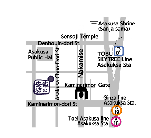 tenugui of map