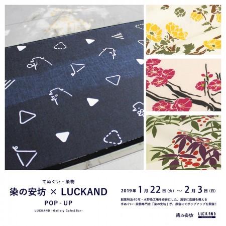 催事情報:染の安坊 x LUCKAND Pop-Up