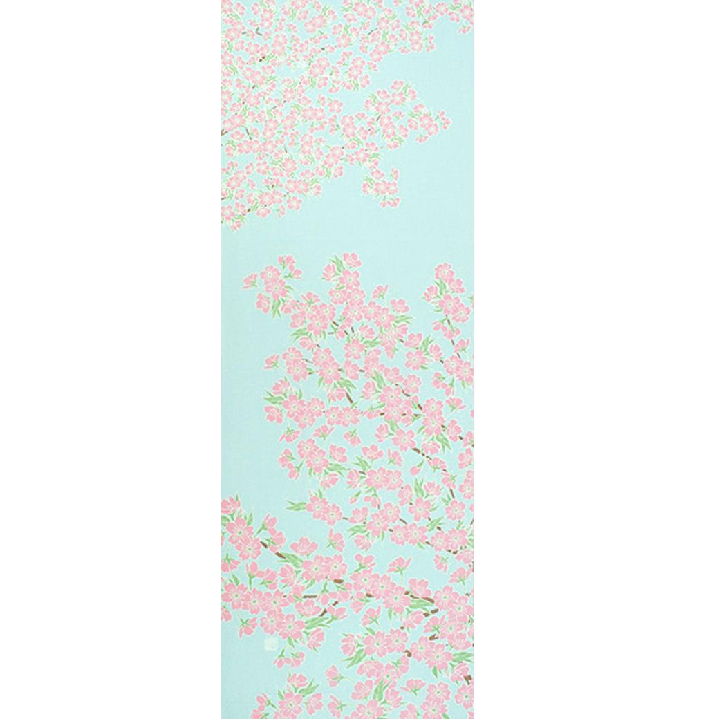 染の安坊 手ぬぐい 空に桜満開